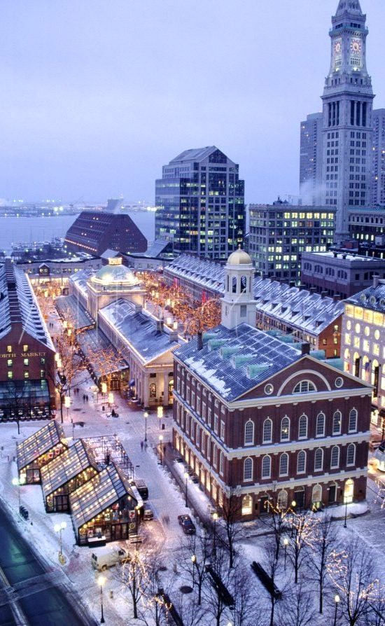Christmas Quincy Market, Faneuil Hall, Boston, MA  (By: James Lemass)