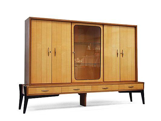 Large 1950's Birch dresser by Karl Brand, Germany.