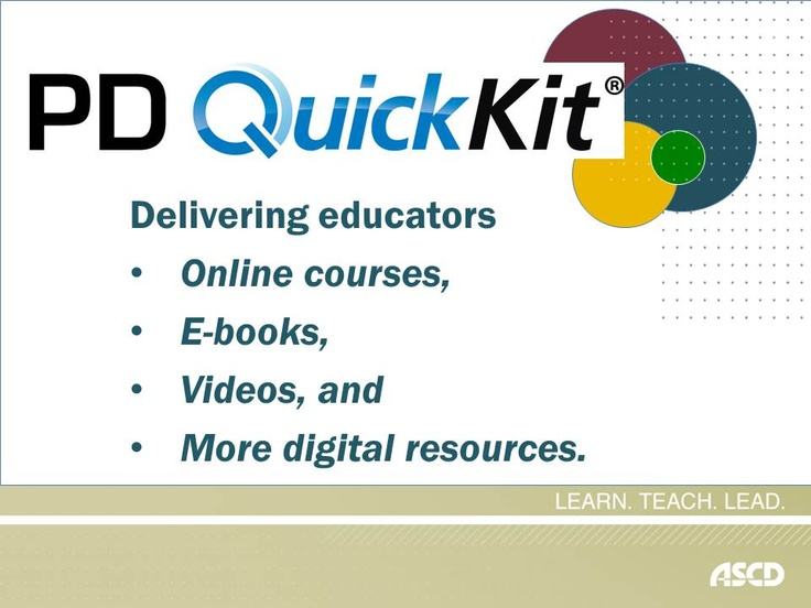 Need a mix of new digital resources for your professional development? Learn more about what the PD QuickKit tool has to offer.