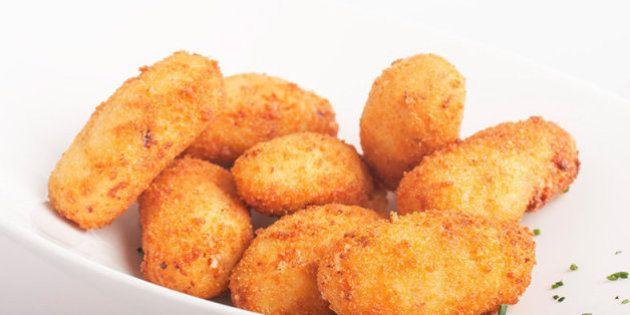 Riquísimas croquetas de pollo o pescado - Sin leche, sin Huevo, que repetirás seguro!. Para toda la familia, con caldo, sencillas y caseras.