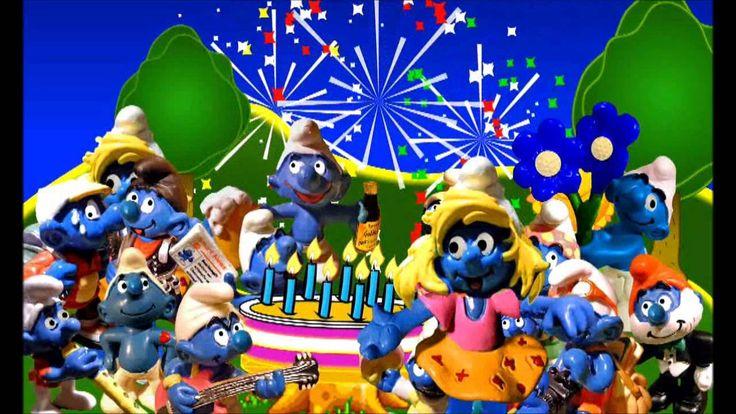 Hoy es tu cumpleaños, Los Pitufos, Cancion cumpleaños Feliz, Infantiles ...