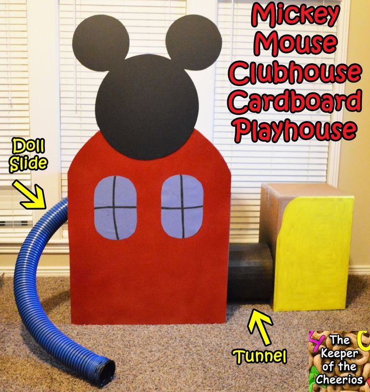 The Keeper of the Cheerios: Mickey Mouse Clubhouse Cardboard Playhouse