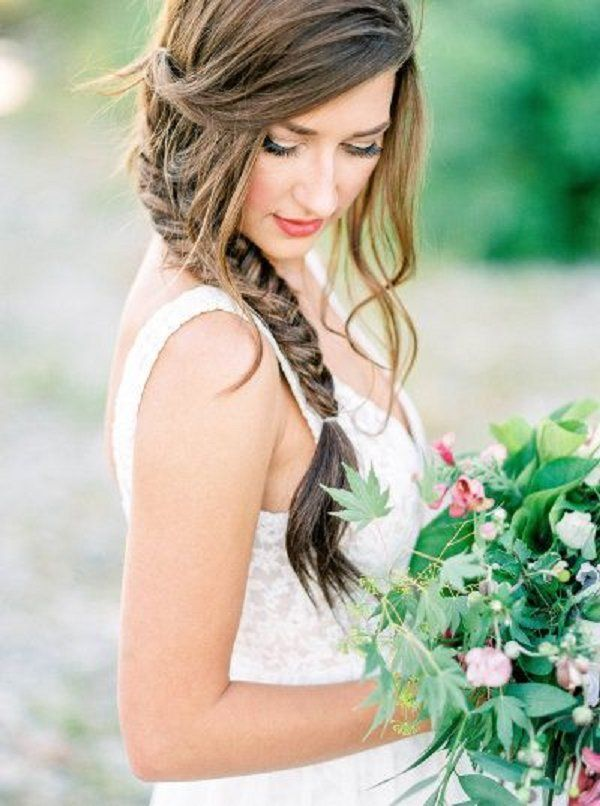 braid wedding hairstyles for long hair / http://www.deerpearlflowers.com/spring-summer-wedding-hairstyles/