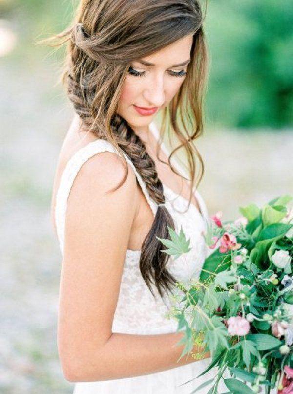 braid wedding hairstyles for long hair / http://www.deerpearlflowers.com/spring-summer-wedding-hairstyles/