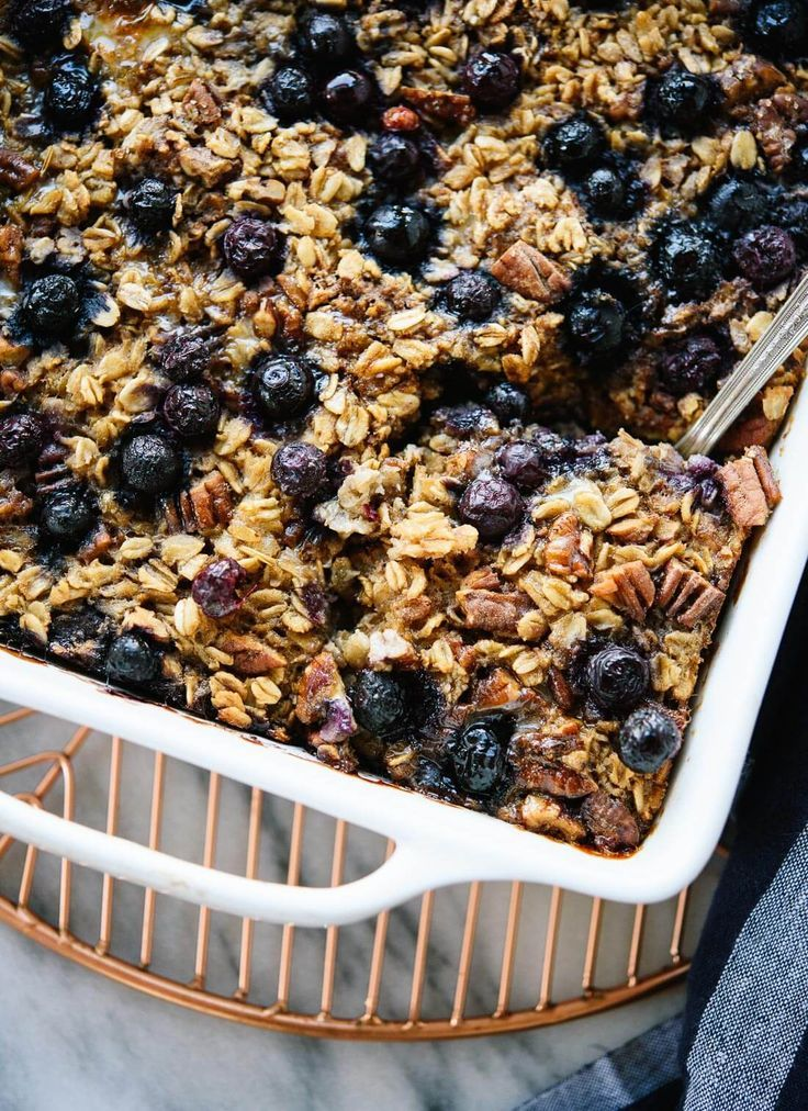 Baked Oatmeal Recipe With Blueberries Cookie And Kate Recipe Blueberry Recipes Healthy Baking Recipes