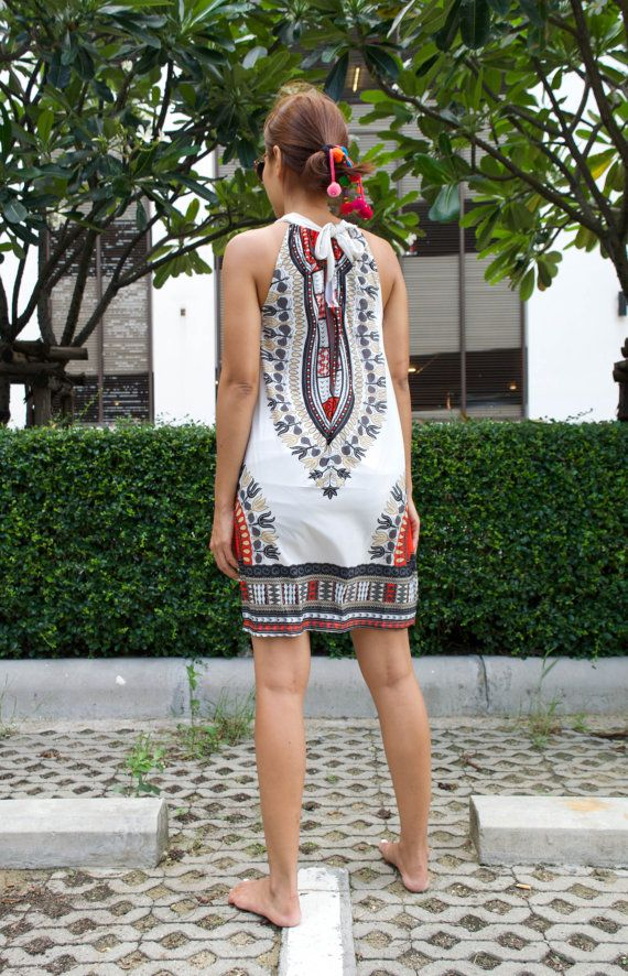 African Dashiki Dress Ankara Dress Hippie Dress by HaremGarden