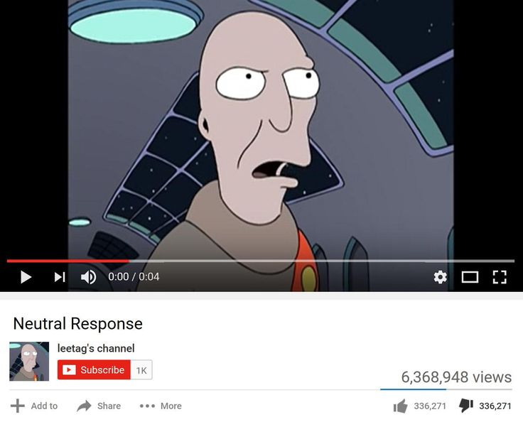Futurama's Neutral Planet video STILL has equal number of likes and dislikes