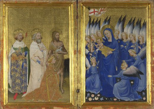 English or French (?): 'The Wilton Diptych'.  Room 53.