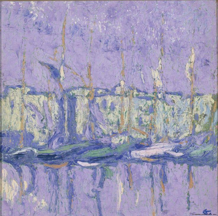 Ellen Thesleff (Finnish, 1869-1954), Port, 1910. Oil on canvas, 21 x 21 cm