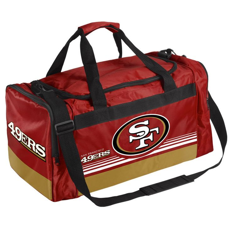 4909675b25c San Francisco 49ers Medium Striped Core Duffle Bag   Products   Pinterest   Duffel  bag, Bags and Sports