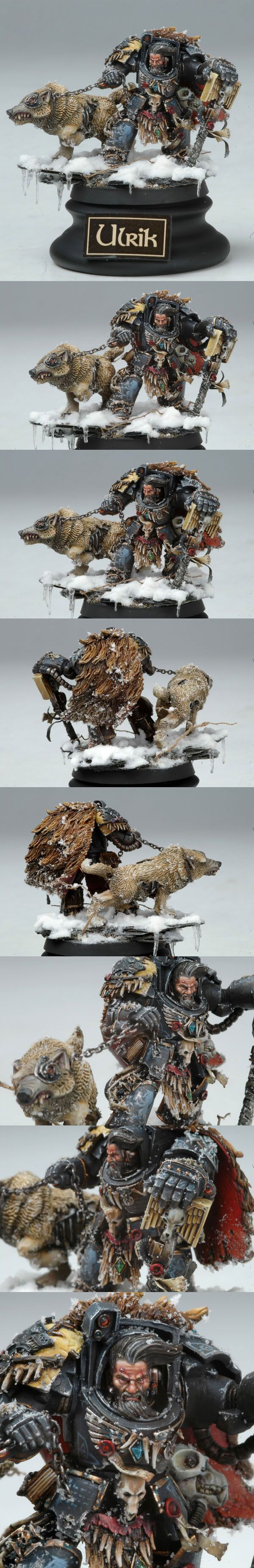 Warhammer 40k Space Wolves, AWESOME custom Ulrik the Slayer in Terminator Armor. Great snow/ice effects