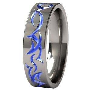 Tribe Anodized Titanium Wedding Ring  for Curt :)