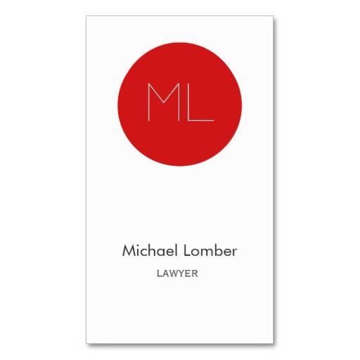 Minimalistic modern Business Card red circle
