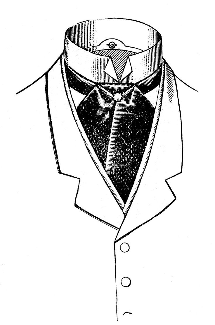 Vintage Father's Day Clip Art - Men's Neckwear - The Graphics Fairy