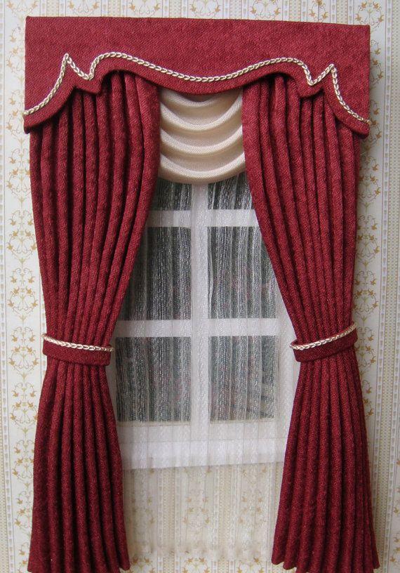 Miniature 1:12 Dollhouse curtains on order от TanyaShevtsova