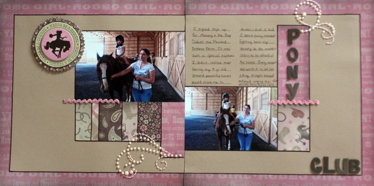32 Best Images About Horse Scrapbook Layouts To Make On