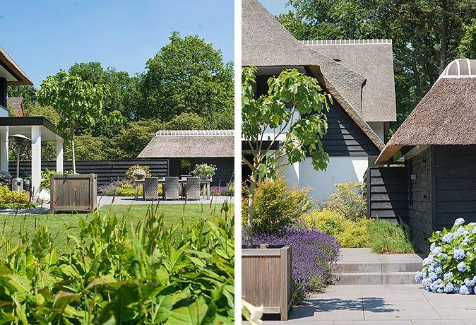 Moderne tuin met veel groen en zwembad tuinontwerp tuinaanleg moderne - Omgeving zwembad ontwerp ...
