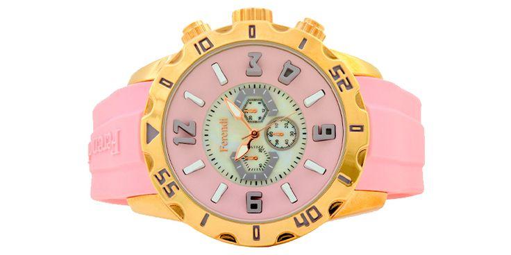 ferendi zeal pink γυναικείο ρολόι με λουρί σιλικόνης (Αντιγραφή)