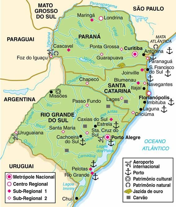 Mapa Do Sul Do Brasil Sul Do Brasil Mapa Da Regiao Sul Mapa