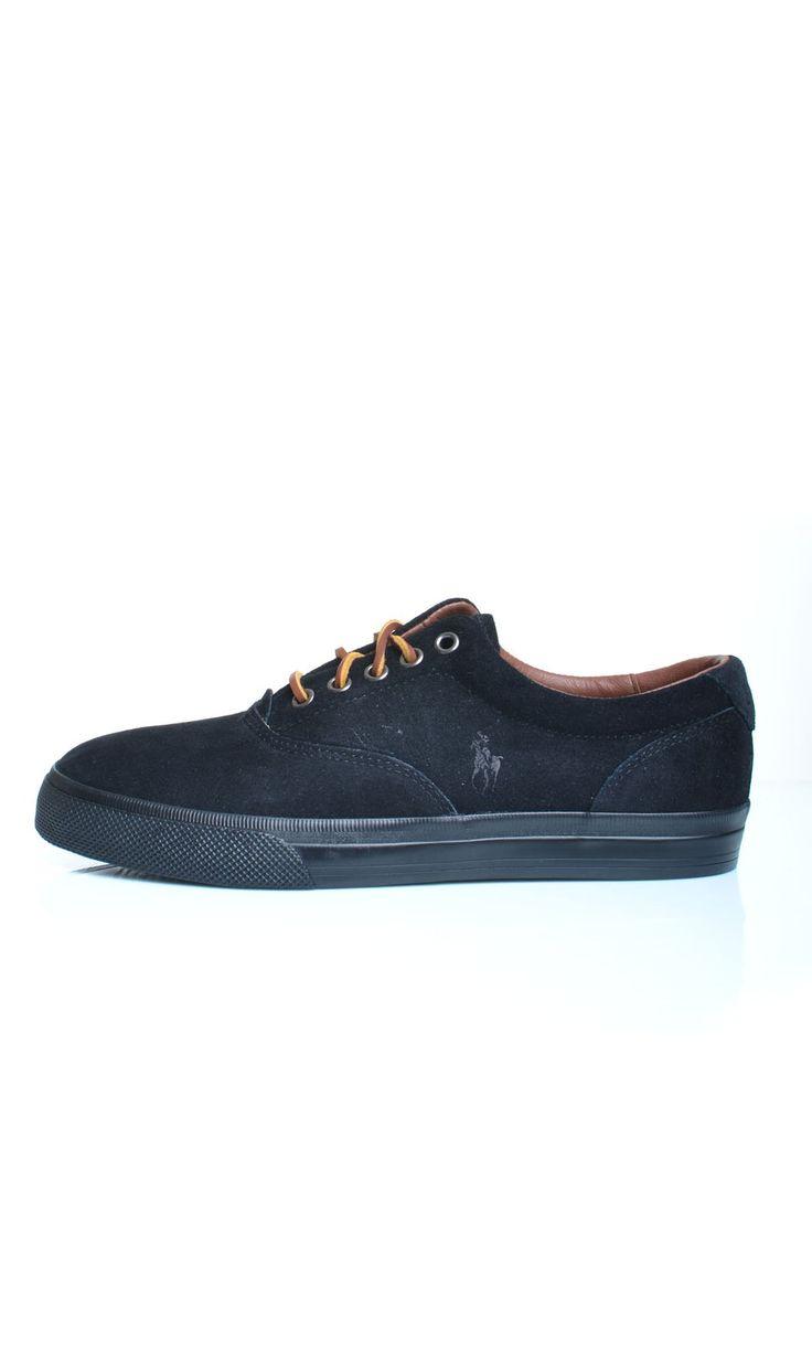 Scarpe Polo Ralph Lauren VAUGHN Sneakers Basse Camoscio - Nero - Scarpe Uomo - A85Y2039 - Dursoboutique.com