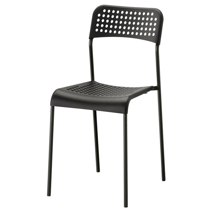 ADDE sandalye siyah | IKEA Yemek Odaları
