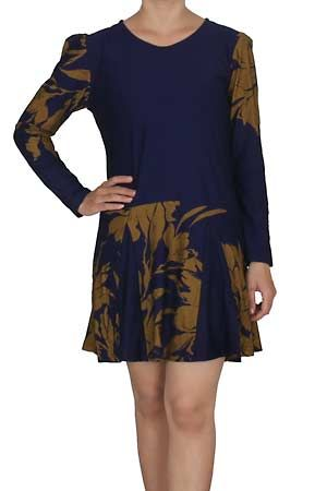 Amisha Sweet Dress Biru Tua  Kode Barang: TA3GU1186 Biru Tua  Detail : bahan kaos  Size : All size width/length 48/83cm Weight: 285 gram  Harga: Rp. 150.000,- (Sebelum Discount)