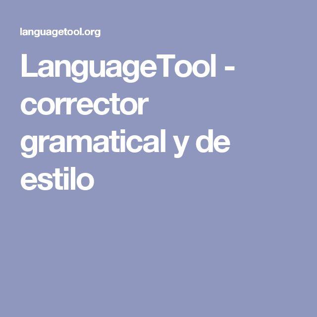 LanguageTool - corrector gramatical y de estilo