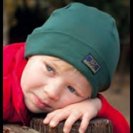 Cuffia in Lana Seta Verde Pino - Pickapooh. Ideale per la mezza stagione quando è necessario proteggere testa e orecchie senza l'ingombro di un cappello vero e proprio. Confezionata con Lana Merino (70%) e Seta Grezza (30%) non trattate biologiche.