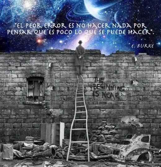 """""""El peor #error es no hacer nada por pensar que es poco lo que se puede hacer"""" -E. Bruke #Frases"""