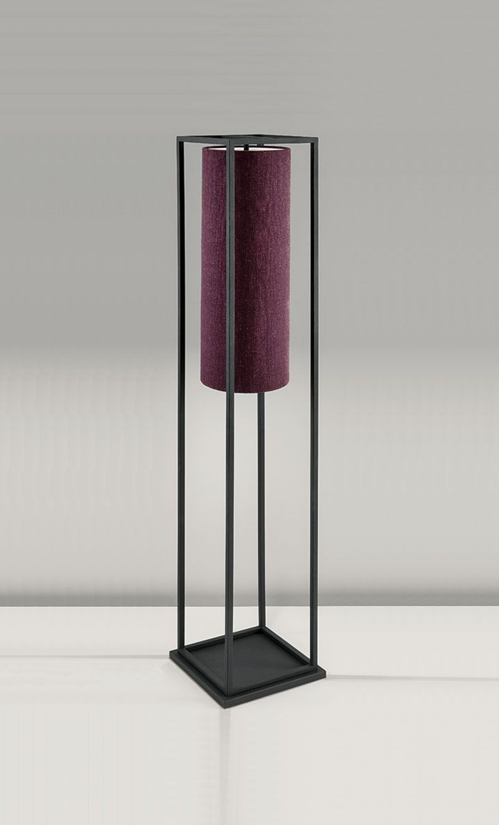 17 best images about floor lamp on pinterest antique brass floor lighting box in textured black with aubergine linen shade floor lamp chelsom geotapseo Choice Image
