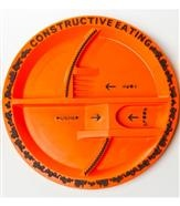 Noo Designs Construction Utensils, Children's Plates
