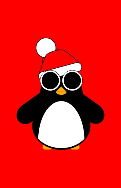 Christmas Penguin Art Print by AWOwens | Society6