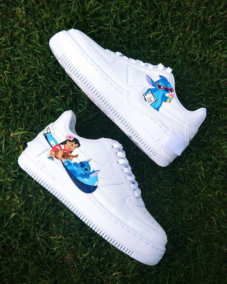 adindarays Stitch Custom AF1 in 2020 Nike shoes air