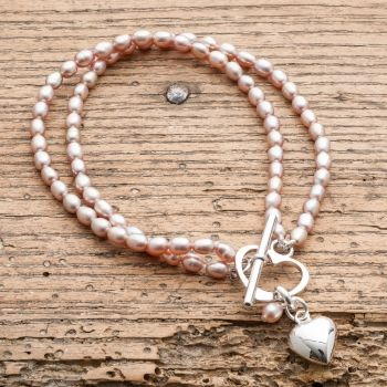 Victoria Jill Double Strand Pink Rice Pearl Bracelet