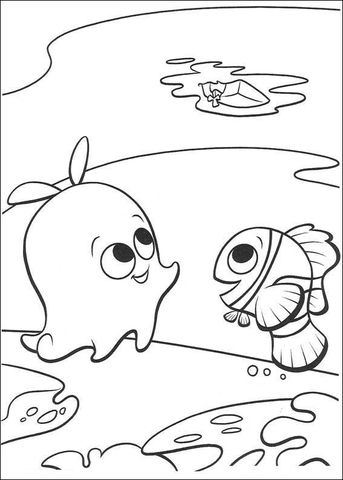 Look Up At The Boat Coloring Page Nemo Coloring Pages Finding Nemo Coloring Pages Disney Coloring Pages