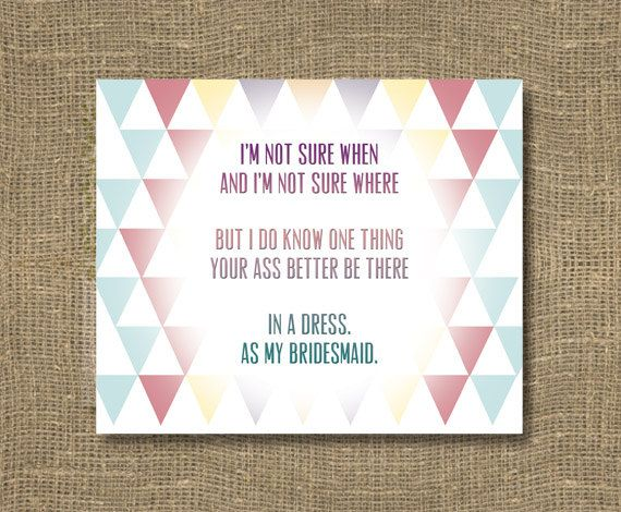 How to Ask a Bridesmaid / Will You Be My Bridesmaid Funny / Will You Be My Maid of Honor - Funny Bridesmaid Card