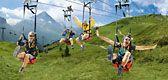 First Flyer, Zip-lining   Jungfrau, Switzerland