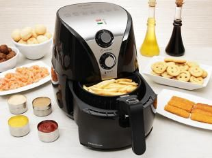 Fritadeira Elétrica s/ Óleo Inox 2,5 Litros - Mondial Air Fryer Premium