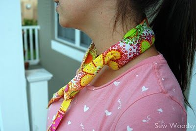 {Tutorial} Make Your Own Cool Tie (I need to make myself several of these and keep them on hand!) ... http://sewwoodsy.com/2011/08/tutorial-make-your-own-cool-tie.html