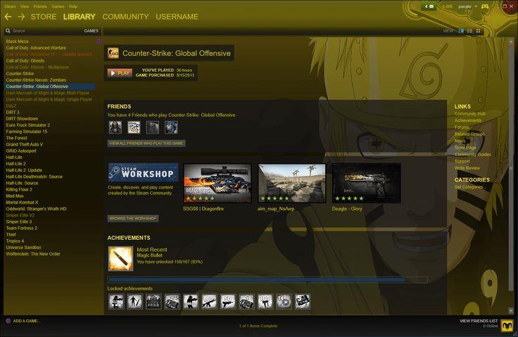 Naruto Ultimate Bijuu Skin for Steam | Steam Skins