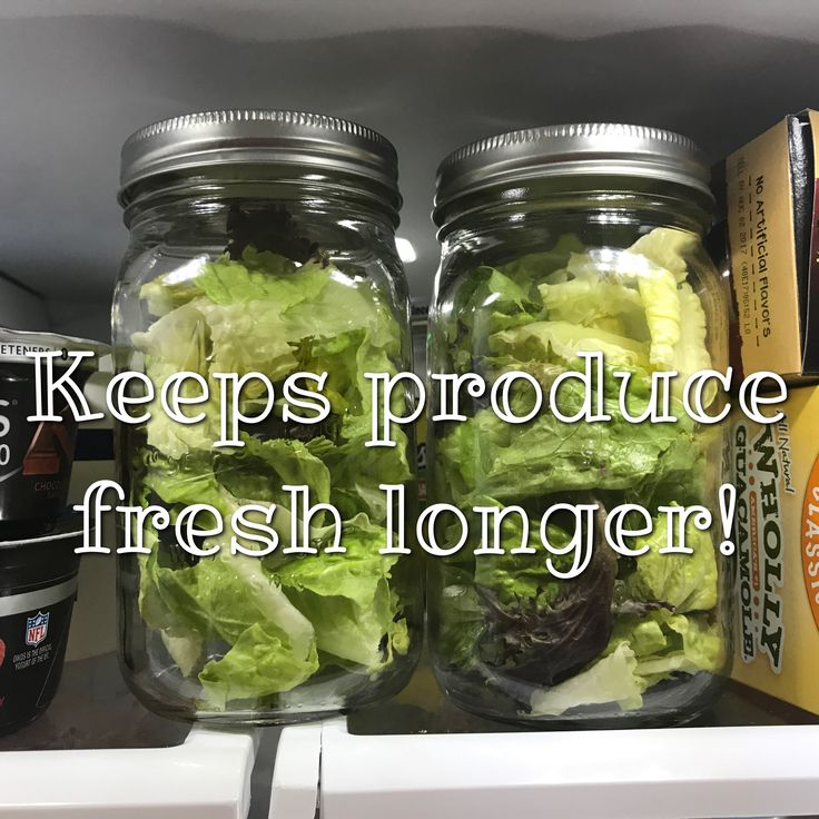 Storing your produce in a Mason jar