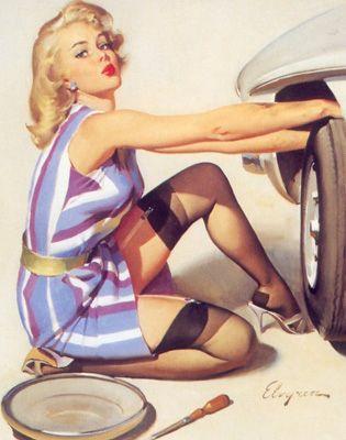 Inspirational pinup pose - a handy woman