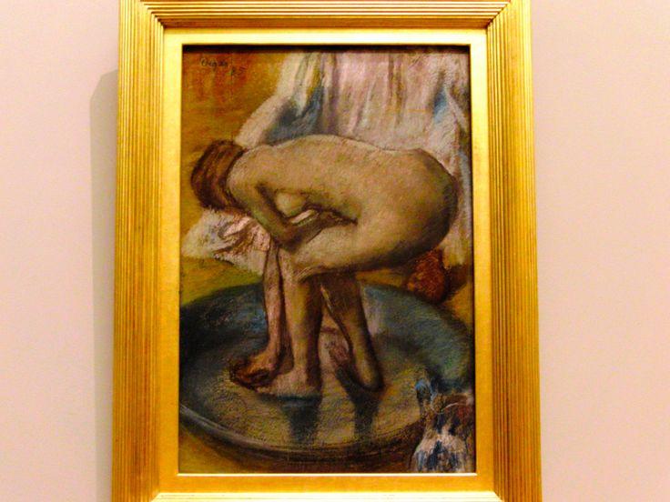 Edgar Degas, French, 1834-1917, Woman Bathing in a Shallow Tub, 1885