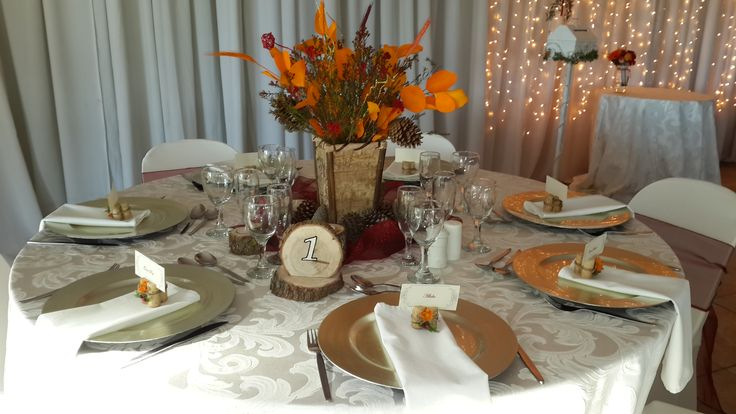 Autumn wedding - Tables with earthy tones