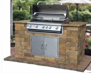 Outdoor Kitchen Kit | Cambridge Pavingstones   Cambridge Outdoor Grill  Module Kits