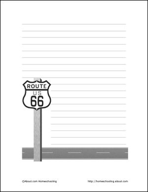 Route 66 Wordsearch, Vocabulary, Crossword, and More: Route 66 Theme Paper