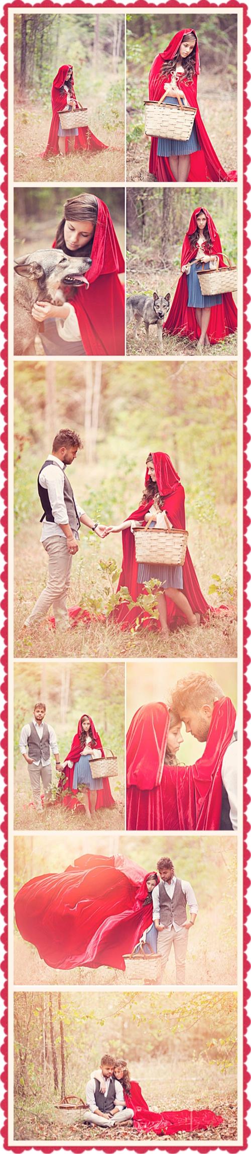 Little red ridding hood wedding photos idea