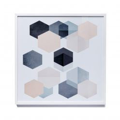 Home Republic Hexagon Metallic Prints, prints, wall art