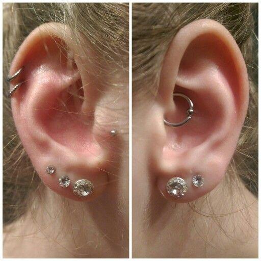 Double Helix || Hoop || Cartilage || Ringe || Tragus || Triple Lobe || Daith Piercing || Double Lobe || Ohr Piercings || Ears || Kristall Schmuck