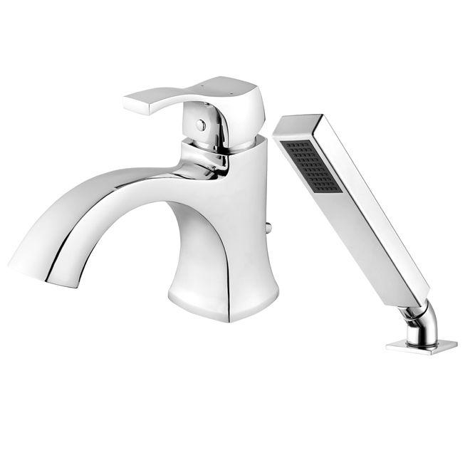Uberhaus Roman Bath Faucet With Hand Shower Chrome Wms258058c